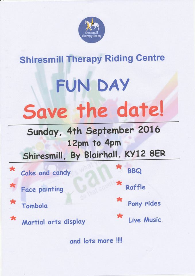 Annual Fun Day 12-4pm Sunday 4th September 2016